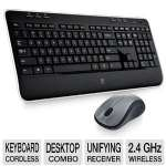 Logitech MK520 Wireless Desktop Set -  Keyboard/Mouse, USB, Black - 920-002553