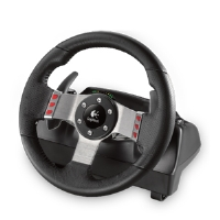 Logitech 941-000045 G27 Driving Wheel - PC and PS3, 900 degree wheel rotation, Dual-motor force feedback