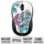 Logitech M325 Wireless Mouse - 2.4GHz, Optical Tracking, Unifying Receiver, On/Off Switch, Lady on Lily  - 910-003684