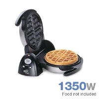 Presto 03510 FlipSide Belgian Waffle Maker - 1350 Watts, 180 Degree Flip Design, Timer, Nonstick Interior, Dual Function Base, Stainless Steel