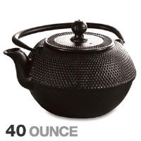 Primula PCI-7440 Cast Iron Teapot - 40oz Capacity, Fully Enameled Interior, Black Matte