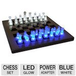 Lumisource LED Glow Chess Set - Blue and White  - SUP-LEDCHES-BW
