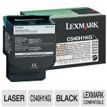 Lexmark C540H1KG Black Return Program Toner Catridge - up to 2,500 pages