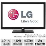 LG 42LK520 42&quot; Class LCD HDTV - 1080p, 1920 x 1080, 16:9, TruMotion 120Hz, 150000:1, USB, HDMI, Energy Star (Refurbished)