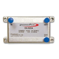 Channel Plus DA-520A Linear 20dB Bi-directional RF Amplifier