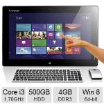 "Lenovo IdeaCentre Flex 20 Portable All-In-One PC Intel Core i3-4010U 1.70GHz, 4GB DDR3 Memory, 500GB HDD, 19.5"" 10 Point Touchscreen, Windows 8 64-bit - 57323539"