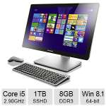 "Lenovo A540 All-In-One PC - Intel Core i5-4258U 2.90GHz, 8GB DDR3 Memory, 1TB + 8GB SSHD, 23.8"" Touchscreen, Windows 8.1 64-bit - F0AN0011US"