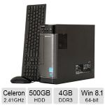 Lenovo H500s Desktop PC - Intel Celeron J1800 2.41GHz, 4GB DDR3 Memory, 500GB HDD, DVDRW, Windows 8.1 64-bit - 57327931