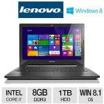 "Lenovo G50 Intel Core i7-4510U, 8GB DDR3, 1TB HDD, DVDRW, 15.6"" HD Display, Intel HD 4400 Graphics, Bluetooth 4.0, Windows 8.1"