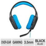 Logitech G430 Surround Sound Gaming Headset - On Cable Controls, Dolby Headphone 7.1, Lay-Flat Earpieces, Folding, Noise Canceling Mic (981-000536)