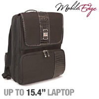 "MobileEdge MESFOBP ScanFast Checkpoint Friendly Onyx Backpack - Fits Laptops up to 15.4"", Black"