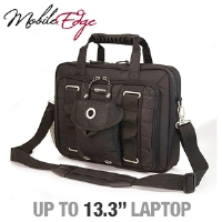 "MobileEdge MEUEBC Ultra Portable Briefcase - Fits Notebook PCs up to 13.3"", Black"