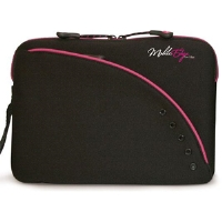 "MOBILE EDGE MESSU1-8.9X SLIPSUIT ULTRA-PORTABLE NETBOOK SLEEVES (BLACK and PINK FITS 8.9"" SCREENS)"