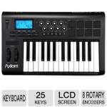 M-Audio Axiom 2nd Generation 25-Key MIDI Keyboard Controller - 8 Rotary Encoders, LCD Screen, DirectLink