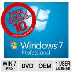 Microsoft Windows 7 Professional 64-Bit Operating System Software -  W/Service Pack 1, License & Media, 1PC, OEM, DVD, LCP, English -