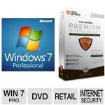 Microsoft Windows 7 Professional 64bit OSS and Total Defense Premium Internet Security Bundle