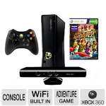 Microsoft Xbox 360 S4G-00001 4GB Console with Kinect - Kinect Sensor, Built-In Wi-Fi, Xbox LIVE, Wireless Controller, Kinect Adventures Game