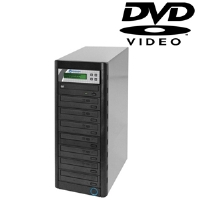 Microboards QD-DVD-H127 QD 1:7 CD/DVD Duplicator - 250GB HDD, 22x DVD, 48x CD, USB 2.0