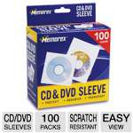 Memorex 100PK CD / DVD Sleeves