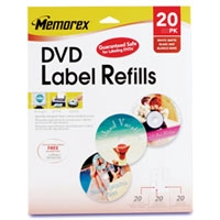 Memorex 32020715 20 Pack DVD Label Refills