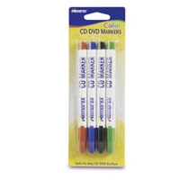 Memorex 32020460 4 Pack CD/DVD/Blu-Ray Labeling Markers