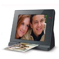 "Mustek PF-A6L 8"" Digital Scanning Photo Frame - 800x600, 400:1, 4:3, JPEG, AVI, DAT, MPG, MP4 Compatible, 1GB Internal Memory"