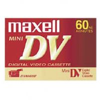 Maxell's MiniDV cassettes provide stunning video and razor sharp still images with all MiniDV camcorders.