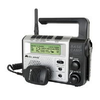 Midland XT511 Base Camp Two Way Radio - Crank Power, NOAA Weather Alert, 121 Privacy Codes, Channel Scan, Alarm Clock