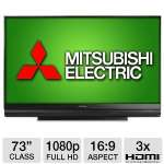 "Mitsubishi WD-73642 73"" Class DLP 3D HDTV - 1080p, 16:9, 120Hz Sub-Frame Rate, HDMI (Refurbished)"