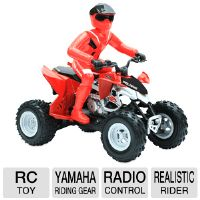 Mach Speed Polaris RC ATV Remote Control Toy - Authentic Yamaha Riding Gear, Full Function Radio Control, Realistic Rider, Red