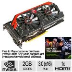 MSI Geforce GTX 770 Video Card - 2GB GDDR5, PCI-Express 3.0 (x16), 1x Dual-Link DVI-D, 1x Dual-Link DVI-I, 1x DisplayPort, 1x HDMI, DirectX 11.1, SLI, Dual-Slot, Fan, (N770 TF 2GD5/OC)