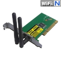 Sabrent 802.11n Wireless PCI Controller Card - 802.11n/g/b, 300Mbps, 40/64/128-bit WEP encryption