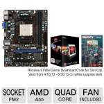 MSI FM2-A55M-E33 & AMD A10 5800K BLK EDT BUNDLE