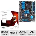 ASUS M5A97 R2.0 AM3+ Motherboard and AMD FX-4130 3.8GHz Quad Core AM3+ Unlocked CPU Bundle