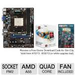 MSI FM2-A55M-E33 Motherboard and AMD Quad-Core A8-5500 3.2GHz Radeon HD 7560D APU Bundle
