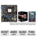 MSI FM2-A85XMA-E35 AMD FM2 Motherboard and AMD Quad-Core A10-5800K 3.8GHz Radeon HD 7660D APU Bundle