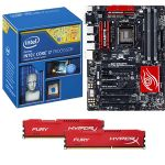 Intel� Core� i7-4790K CPU/Gigabyte GA-Z97X-GAMING 5 ATX MB/16GB DDR3 1866 Kingston HyperX Fury Red Memory Bundle