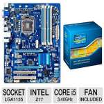 GIGABYTE GA-Z77-DS3H Intel 7 Series Motherboard and Intel Core i5-3570K 3.40 GHz Quad Core Unlocked Bundle