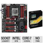 ASUS Rampage IV Extreme X79 LGA 2011 Motherboard and Intel Core i7-3960X 3.30GHz Extreme Edition CPU Bundle