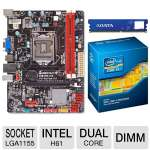 Biostar H61MHV Intel H61 Motherboard and Intel Core i3-2120 3.30 GHz Dual Core Processor and ADATA Premier Srs 4GB DDR3 Desktop Memory Module Bundle