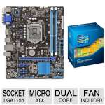 Asus Intel H61(B3) Motherboard and Intel Core i3-3220 Processor Bundle