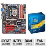 BIOSTAR TZ77A Intel 7 Series Motherboard and Intel Core i3-2120 3.30 GHz Dual Core Processor Bundle