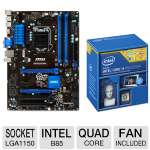 Intel Core i5-4570 Processor and MSI B85-G41 PC Mate ATX LGA1150 Motherboard Bundle
