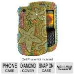 Mobo ECMBB9800LX103 Cell Phone Diamond Snap On Case - Compatible with Blackberry 9800, Yellow