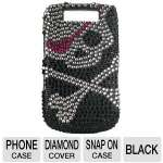 Mobo ECMBB9800LX14 Cell Phone Diamond Snap On Case - Compatible with Blackberry 9800, Black