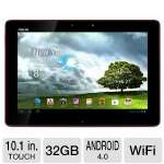 "ASUS TF300T-B1-RD Eee Pad Transformer Tablet - Android 4.0 Ice Cream Sandwich, NVIDIA Tegra 3 1.2GHz, 1GB DDR3, 32GB Flash, 10.1"" Multi-Touch Screen, Dual Webcams, Red (ASTF300T-B1-RD)"