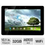 "ASUS TF300T-B1-WH Eee Pad Transformer Tablet - Android 4.0 Ice Cream Sandwich, NVIDIA Tegra 3 1.2GHz, 1GB DDR3, 32GB Flash, 10.1"" Multi-Touch Screen, Dual Webcams, White (ASTF300T-B1-WH)"