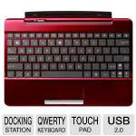 ASUS Transformer Pad Mobile Dock - QWERTY Keyboard, Touchpad, SD Slot, USB 2.0, Red (ASTF300T-DOCK-RD)