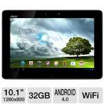 "ASUS Transformer Pad Tablet - Android 4.0 Ice Cream Sandwich, NVIDIA Tegra 3 1.2GHz, 1GB DDR3, 32GB Flash Storage, 10.1"" Multi-Touch Screen, Dual Webcams, Blue (RB-ASTF300T-B1-BL)"
