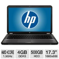 HP Pavilion g7-1326dx A7A41UAR Refurbished Notebook PC - AMD Quad-Core A6-3420M 1.5GHz, 4GB DDR3, 500GB HDD, DVDRW, 17.3&quot; Display, Windows 7 Home Premium 64-bit